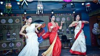Boishakh Dance--- Sabrina,Rupa,Susmita (142 FDT)----BUFT Pohela Boishakh 1423
