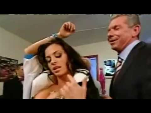 Hot Candice Michelle Vince McMahon moment Backstage WWE Sex