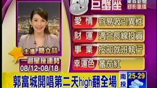 20120812郭富城台北小巨蛋演唱會台灣電視新聞集錦
