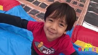 McDonald's Drive Thru Prank Kid On Inflatable Car Toys on Water Slides Kids Pool