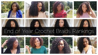 EPIC END-OF- YEAR CROCHET BRAIDS RANKINGS VIDEO| COLLAB WITH INDYA AJAI