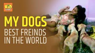 Mumbai Girl Living with Dogs in her apartment | Animal loving kids