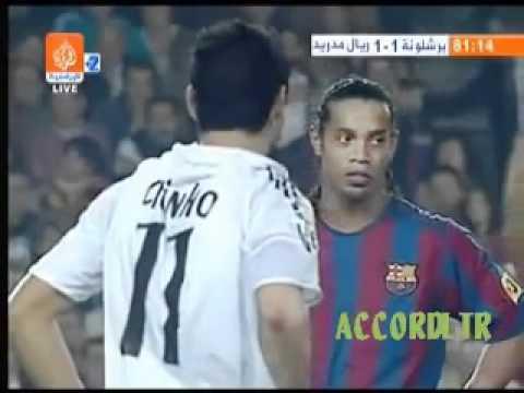 مشجع مغربي يقتحم الملعب في مباراة الريال والبرشا