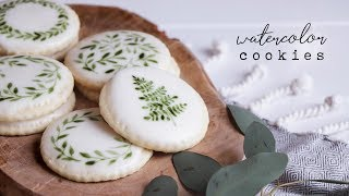 How To Create Hand Painted Watercolor Cookies