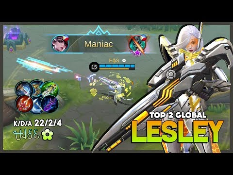 Stellaris Ghost Crazy Crit Damage with 22 Kill ᏠᏗᎴᏋ ✿ Top 2 Global Lesley Mobile Legends