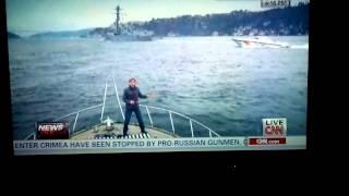 CNN FAKE REPORTING ON GREEN SCREEN