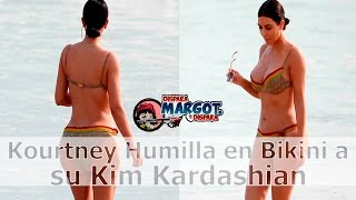 Kourtney Kardashian Humilla en Bikini a Kim Kardashian