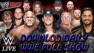 Download wwe full shows hd