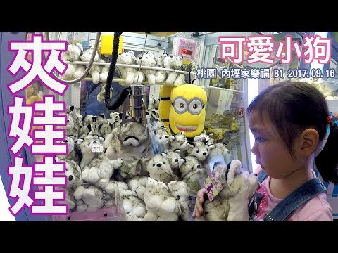 夾娃娃機 可愛小狗狗來吧 我們在內壢的家樂福玩的夾娃娃機 Sunny Yummy running toys 跟玩具開箱