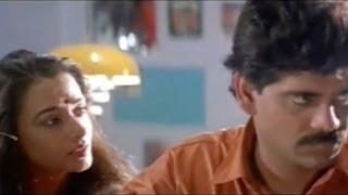 Nirnayam Movie || Comedy Scene Between Amala And Nagarjuna About Company Caption