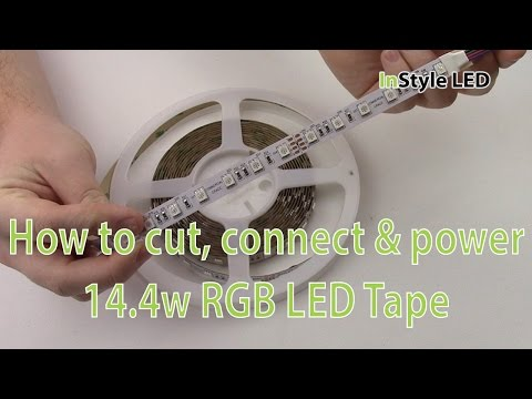 LED Strip Lights - How to cut, connect & power 14.4w RGB LED Tape