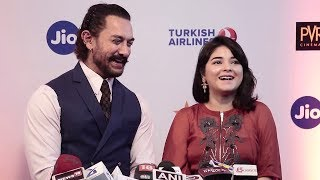 Aamir Khan With CUTE Dangal Daughter Zaira Wasim At Jio Mami Film Festival 2017