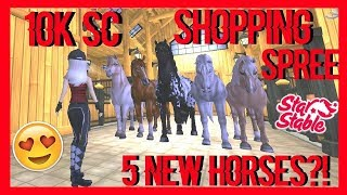 10.000 Sc Shopping Spree | 5 New Horses & Upgraded Stable + New Outfits || StarStableOnline