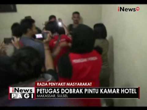 Razia penyakit masyarakat di Makassar, petugas dobrak kamar hotel kelas melati - iNews Pagi 2106