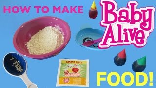 BABY ALIVE How to make BABY ALIVE FOOD💕