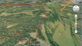 North Downs 90 mile Bike Loop 3D Fly Through Google Earth