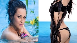 OMG Watch Sonakshi Sinha's New Hot Bikini Avatar Hot Bikini Photoshoot _ Sonakshi Sinha Hot Pics