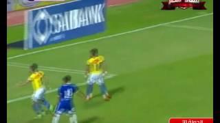 تصديات رائعة لمحمد عواد فى مباراة سموحة والإسماعيلي