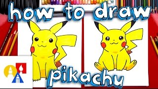 How To Draw Pikachu (with color)