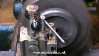 HOW TO MACHINE A MODEL STEAM LOCOMOTIVE WHEEL - MODEL ENGINEERING FOR BEGINNERS - PART #14