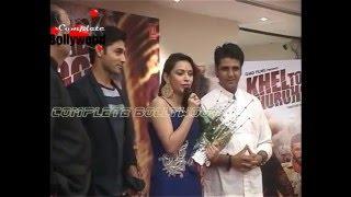 Abhinav Kashyap, Ruslaan Mumtaaz, Devshi Khanduri at Trailer Launch of 'Khel Toh Ab Shuru Hoga'