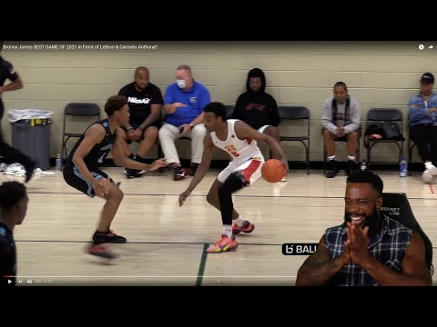 I LIKES THIS Bronny James BEST GAME OF 2021 In Front of LeBron & Carmelo Anthony