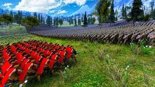 100,000 ORCS vs. 300 SPARTANS! (Ultimate Epic Battle Simulator)