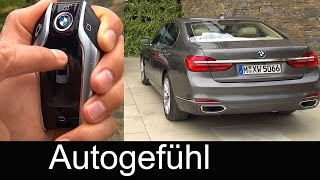 New BMW 7-Series technology autonomous parking aid with car key 7er - Autogefühl