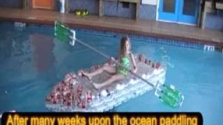 The World's First Coke Bottle Canoe From Plastic Bottles
