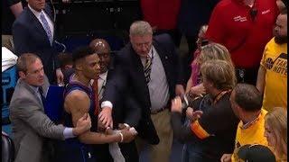 Russell Westbrook slaps Jazz fan