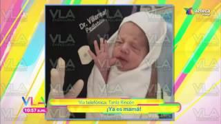 Entrevista a Tania Rincon por el nacimiento de Patricio Bebé !