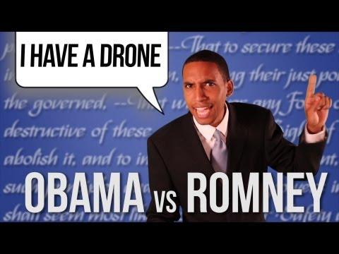 I HAVE A DRONE Barack Obama vs Mitt Romney RAP NEWS 16