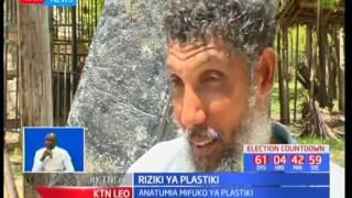 Bwana huko Lamu mmoja atengeneza madau kwa kutumia mifuko ya plastiki