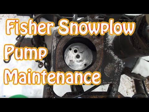 DIY Fisher Minute Mount Snow Plow Maintenance Clogged Screen Fluid Change  Moves Slowly