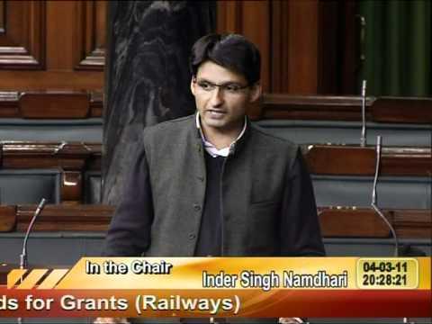 Sh Deepender S Hooda's speech during Rail Budget Discussion.VOB
