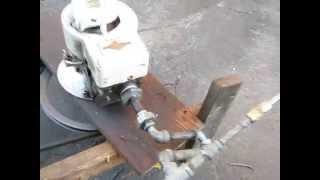 Homemade Briggs Compressor in Action!
