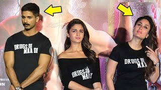 Uncomfortable Shahid AVOIDING Kareena At Udta Punjab Trailer Launch Full Video HD