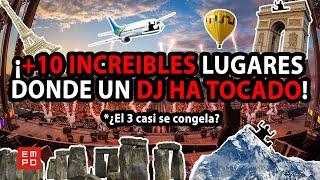 ¡+10 INCREIBLES LUGARES DONDE UN DJ HA TOCADO! *El 3 casi se congela