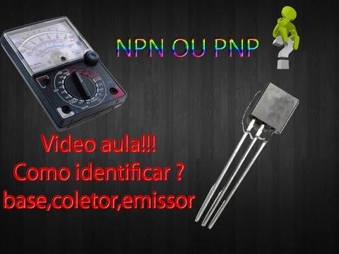 Video aula como identificar TRANSISTOR NPN PNP Base Coletor Emissor