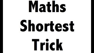 Quant / Maths tricks for SSC CGL,CHSL,BANK PO,POLICE,RBI,CLAT