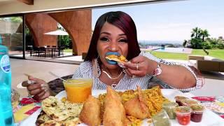 Indian Food Mukbang from Raja India Restaurant in Mason Ohio