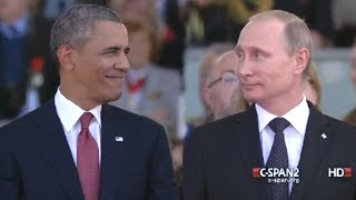 Obama & Putin: Face to Face on D-Day
