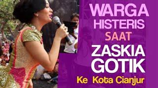 Warga Histeris Saat Zaskia Gotik ke Cianjur