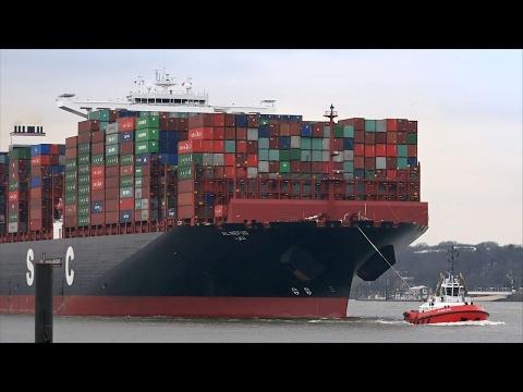 Xxx Mp4 UASC 400 M Container Ship AL NEFUD Port Of Hamburg Elbe River 3gp Sex