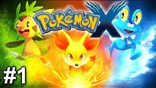 Pokemon X and Y Gameplay Let's Play - Choosing My Starter Pokemon - Part 1 (3DS Commentary)