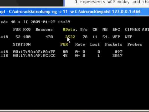 How to hack WEP secured networks with Aircrack ng Tutorial