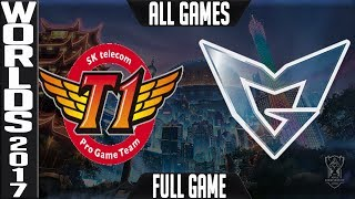 SKT vs SSG Grand-Final ALL GAMES FULL   World Championship 2017   SK Telecom T1 vs Samsung Galaxy