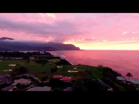 Princeville Bali Hai Sunset Filled with Reds and Oranges!!