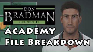 Don Bradman Cricket 17 Academy: File Breakdown