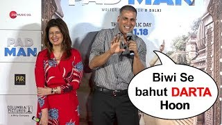 Akshay Kumar Makes FUN Of Twinkle Khanna In Public At Padman Promotions